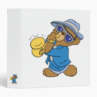 Saxaphone Jazz Blues Bear Vinyl Binders