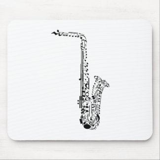 Saxaphone Notes Mouse Pad