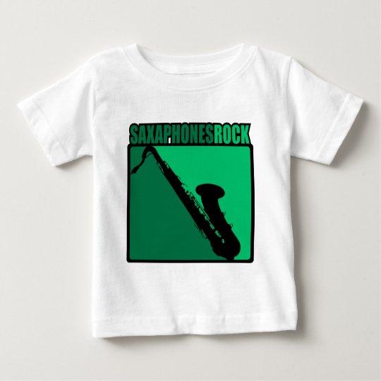 Saxaphone Rock #3 Baby T-Shirt