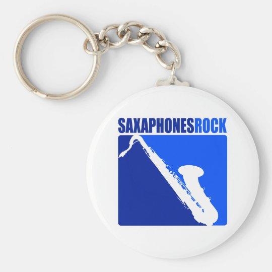 Saxaphone Rock Keychain