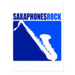 Saxaphone Rock Postcard