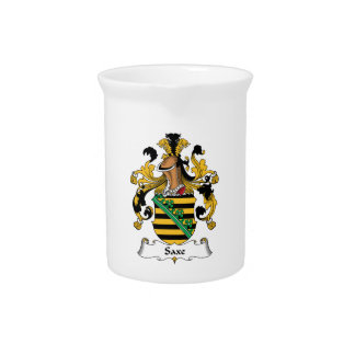 Saxe Family Crest Beverage Pitcher