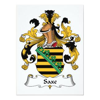 Saxe Family Crest Card