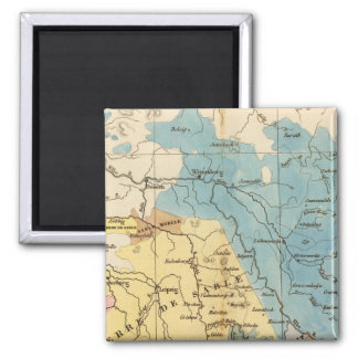 Saxe mineralogique 2 inch square magnet