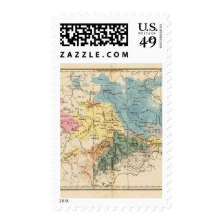 Saxe mineralogique stamp