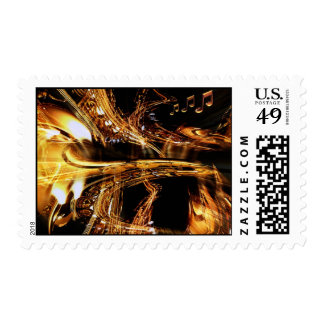 saxes abstract postage stamp