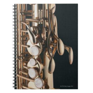 Saxofón 5 spiral notebooks
