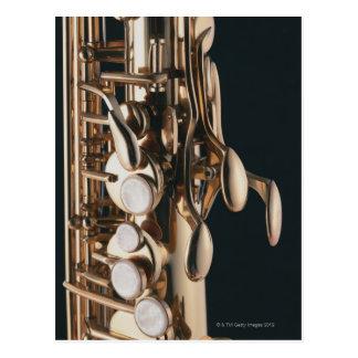Saxofón 5 postal