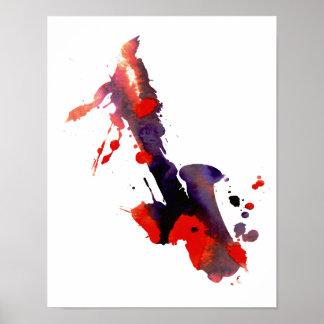 Saxofón abstracto póster