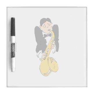 saxofón abstracto top.png del hombre tableros blancos