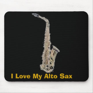 saxofón, amo mi saxofón del alto tapetes de ratones