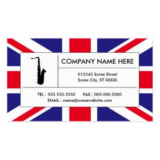 saxofón británico tarjetas de visita