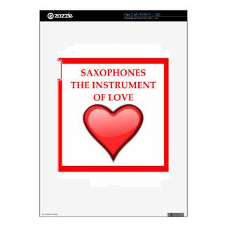 SAXOFÓN CALCOMANÍA PARA EL iPad 2
