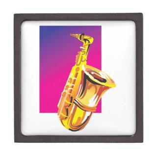 Saxofón chillón cajas de recuerdo de calidad