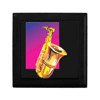 Saxofón chillón joyero cuadrado pequeño