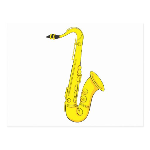 Saxofón clásico postales