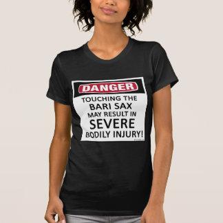 Saxofón de Bari del peligro Tshirt