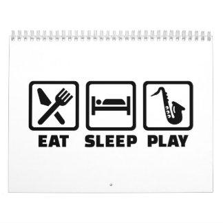 Saxofón de Eat Sleep Play Calendario