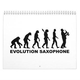 Saxofón de la evolución calendarios