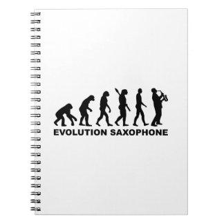 Saxofón de la evolución libro de apuntes con espiral