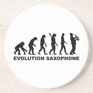 Saxofón de la evolución posavasos manualidades