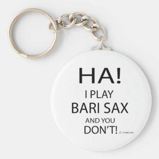 Saxofón de la ha Bari Llavero Personalizado