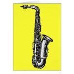 Saxofón del alto felicitación