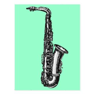 Saxofón del alto tarjeta postal