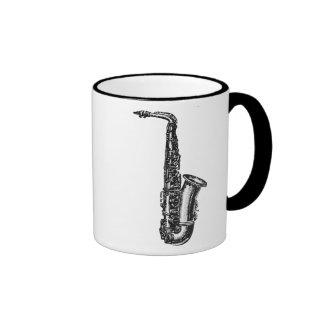 Saxofón del alto tazas