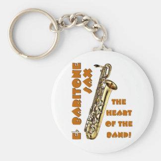 Saxofón del barítono llaveros personalizados