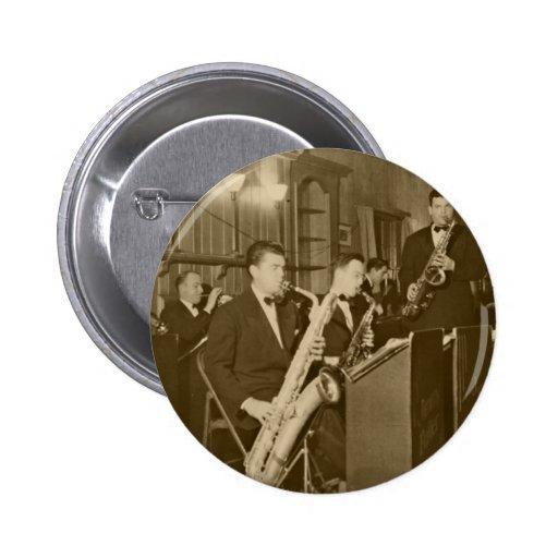 Saxofón del big band del vintage pins