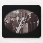 Saxofón del big band del vintage tapete de raton