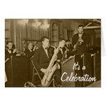 Saxofón del big band del vintage tarjeta de felicitación