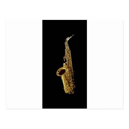 Saxofón del ~ del fondo del carbón de leña del postales