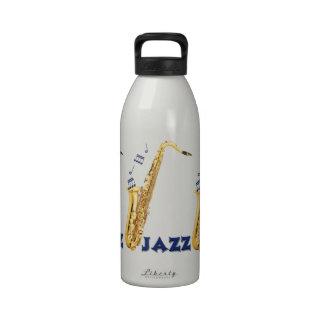 Saxofón del jazz 32 onzas. Botella de agua