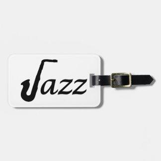 Saxofón del jazz etiquetas para maletas