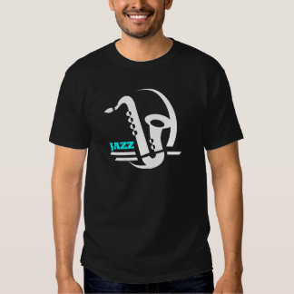 Saxofón del jazz remera