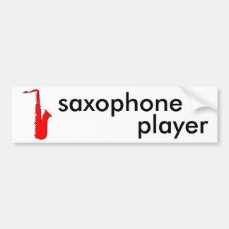 saxofón del oddRex Pegatina Para Auto