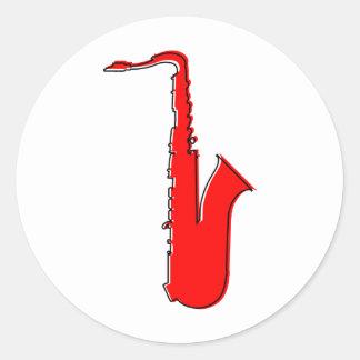 saxofón del oddRex Etiquetas Redondas