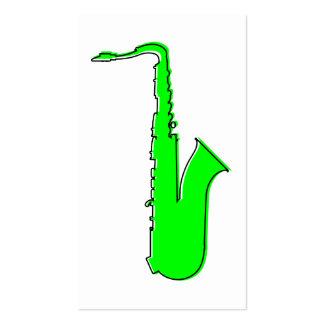 saxofón del oddRex Tarjetas De Visita
