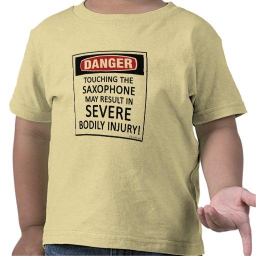 Saxofón del peligro camisetas
