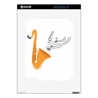 Saxofón del saxofón de Saxophon Calcomanía Para iPad 2