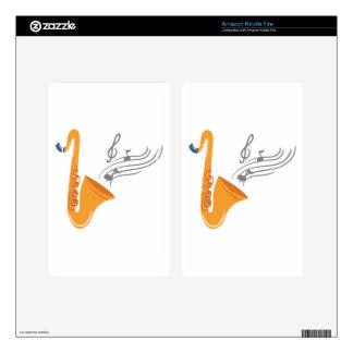 Saxofón del saxofón de Saxophon Skins Para Kindle Fire