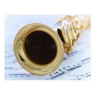 Saxofón del soprano postales