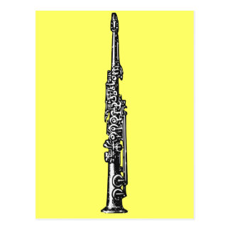 Saxofón del soprano tarjeta postal
