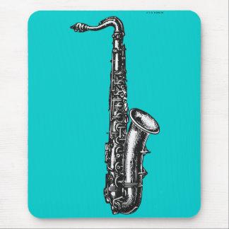 Saxofón del tenor tapete de ratón