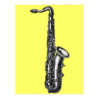 Saxofón del tenor tarjetas postales