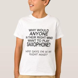 Saxofón derecho de la mente poleras