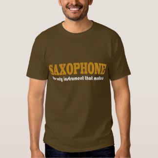 Saxofón divertido que dice la camiseta camisas