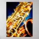Saxofón - fractal posters